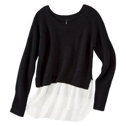 labworks Women's Long Sleeve Shaker Sweater - Black : Target