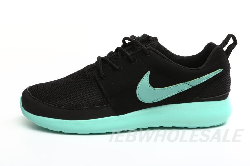 Nike Roshe Run Black Mint 511881-520 Top Quality - $52