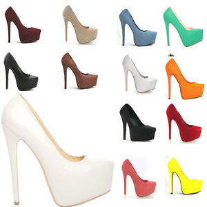 Womens Party Platform Pumps Killer High Heels Stiletto Court Shoes 817 EU35 42   eBay