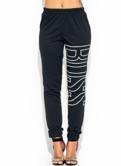 Be-The-Boss-Sweatpants BLACK WHITE - GoJane.com