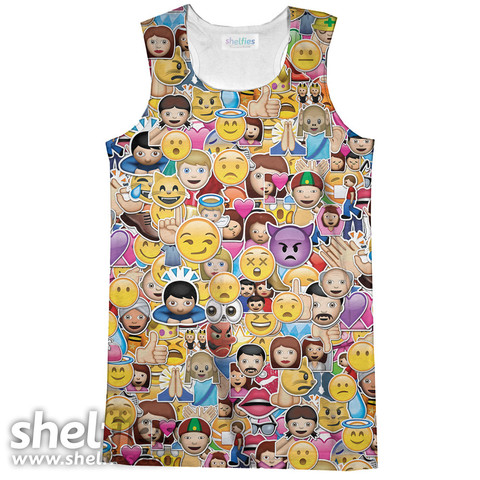 Emoji Madness Tank Top – Shelfies - Outrageous Sweaters