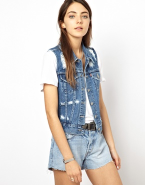 Levis | Levi'S Distressed Gilet at ASOS