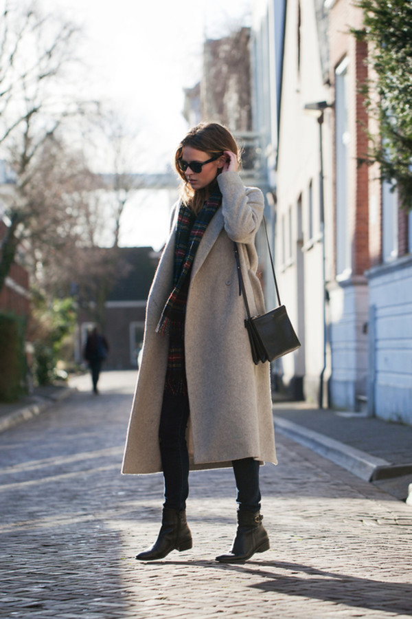 fash n chips coat jeans shoes bag scarf sunglasses