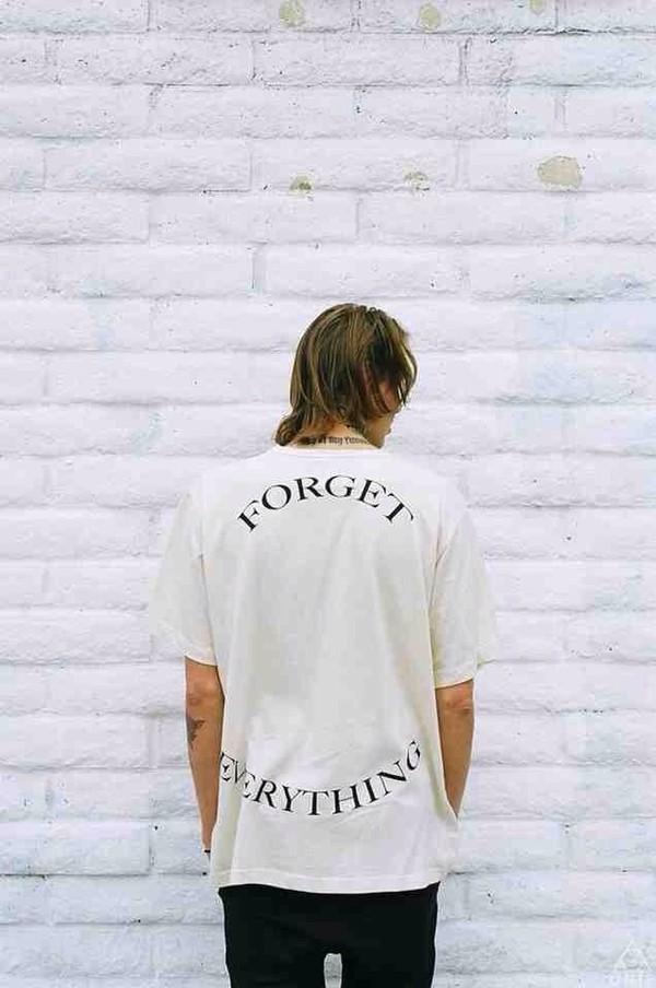t-shirt white grunge pale alternative