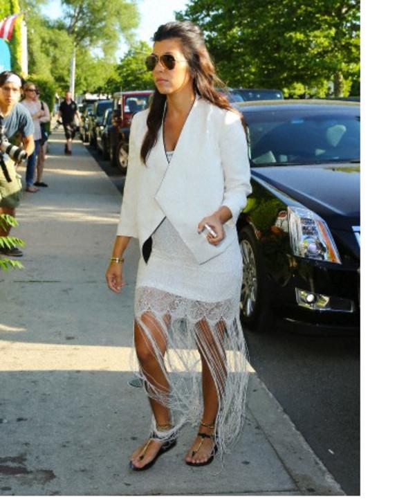 kourtney kardashian jacket dress