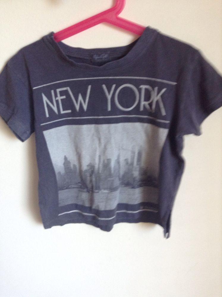 Brandy Melville J Galt New York City Cropped Grey Top | eBay