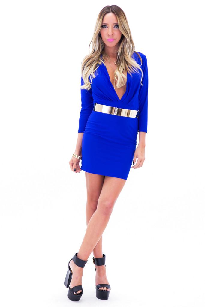 VENETA BODYCON DRESS - Blue | Haute & Rebellious