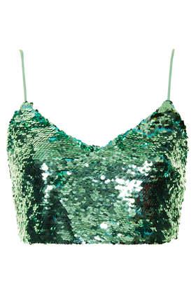Sequin Bralet - Crop Tops  - Tops  - Clothing - Topshop