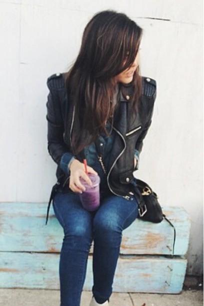 jacket leather jacket carolgang