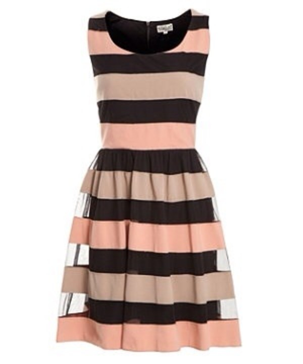 dress pink and black striped