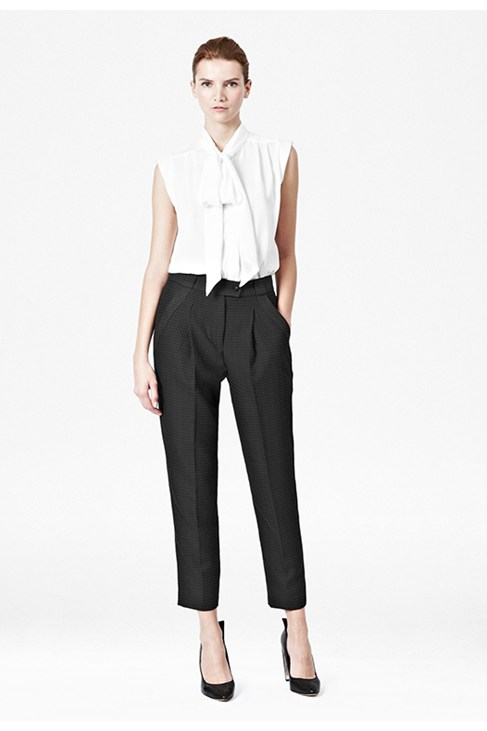 Silky Tie Neck Blouse - Outlet - French Connection Usa