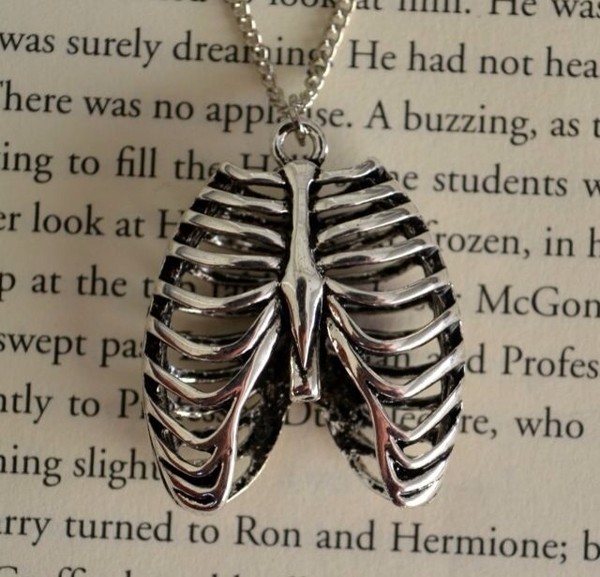 jewels necklace ribs swag swag beautiful skeleton grunge jewelry torso goth bones body silver metal hipster sweet nice girly