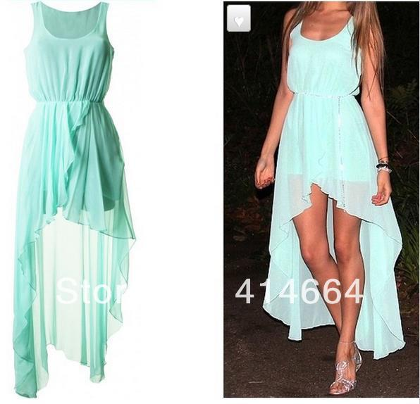 New Spring 2014 Ladies Long summer Chiffon Sexy Dress Warm Fashion Maxi Mint Green Summer Dress Casual Brand Dresses-in Dresses from Apparel & Accessories on Aliexpress.com