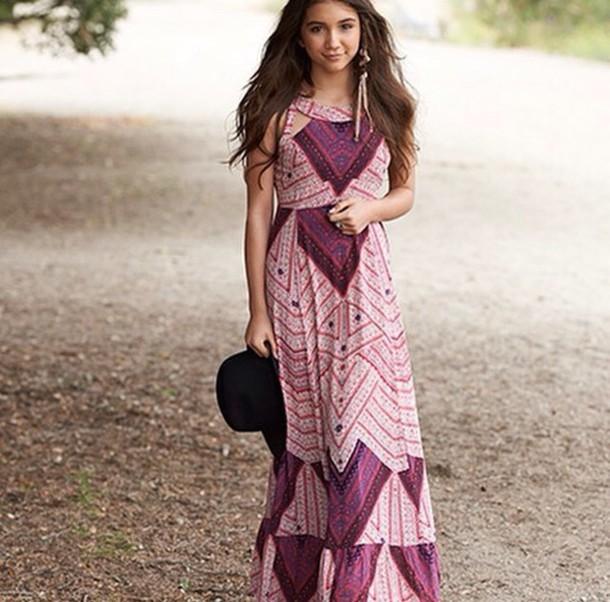 dress rowan blanchard girl meets world maxi dress purple