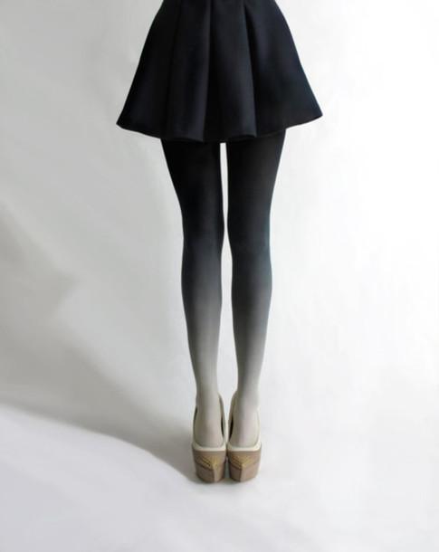 ombre tights coal grey underwear