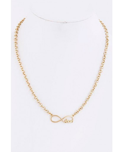 Trendy Clothing, Fashion Shoes, Women Accessories | Gold Infinite Love Necklace  | LoveShoppingMiami.com