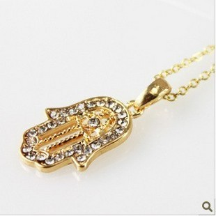 Min order $10,European and American trade jewelry original single hand of Fatima hamsa necklace palm clavicle chain necklace-in Chain Necklaces from Jewelry on Aliexpress.com