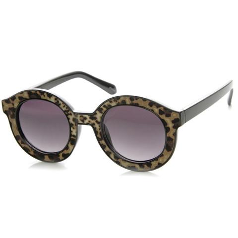 Popular Indie Block Cut Pattern Round Womens Sunglasses 9157                           | zeroUV