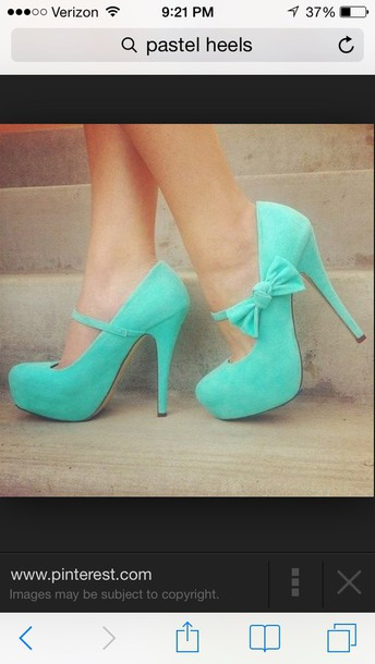 shoes heels straps turquoise