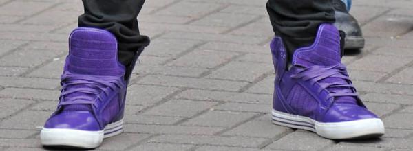 shoes supra skytops? purple tongues shiny justin bieber