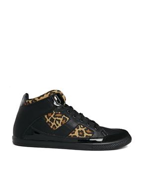 River Island   River Island Hi Top Sneakers in Leopard Print at ASOS