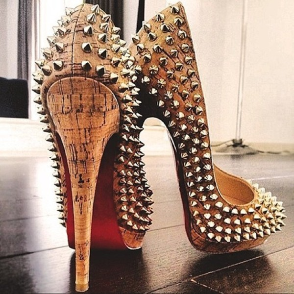 shoes louboutin studded hot shoes 2014