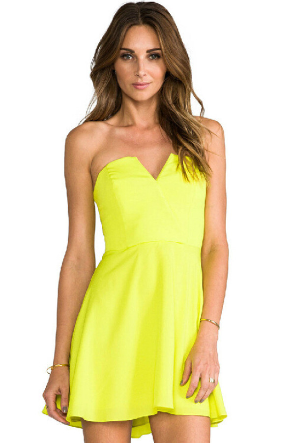kcloth party dress neon green party dress prom dress neon green sweet heart party dresses dress