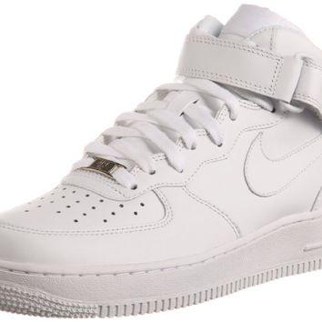 Nike Men's NIKE AIR FORCE 1 MID 07 BASKETBALL SHOES 7.5 (WHITE/WHITE) on Wanelo