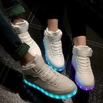 shoes white sneakers led light shoes cool fashion style sporty rose wholesale