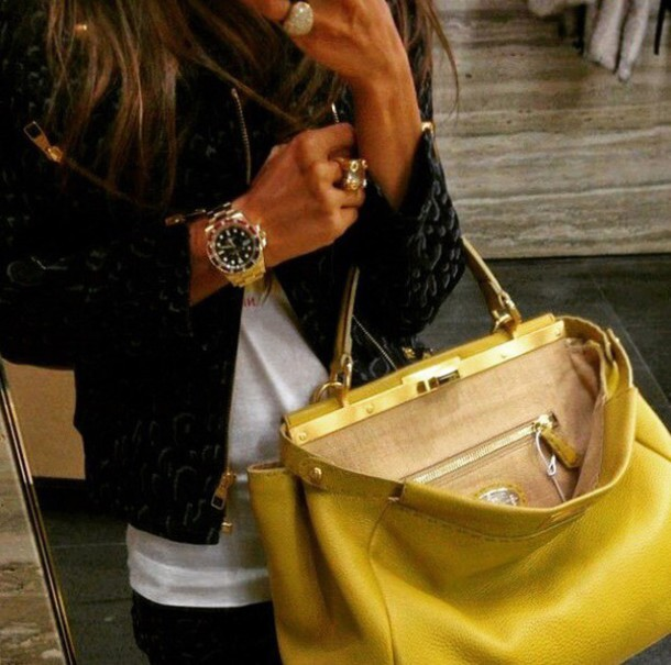 bag beautiful bag yellow citybag yellow / white fashion luxury beautiful model instagram gorgeous style