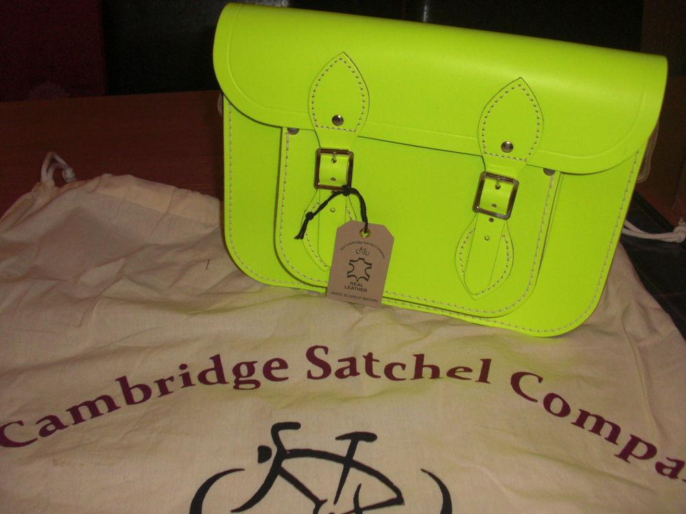 Cambridge Satchel Company. Brand New. Unwanted gift. Neon yellow leather | eBay