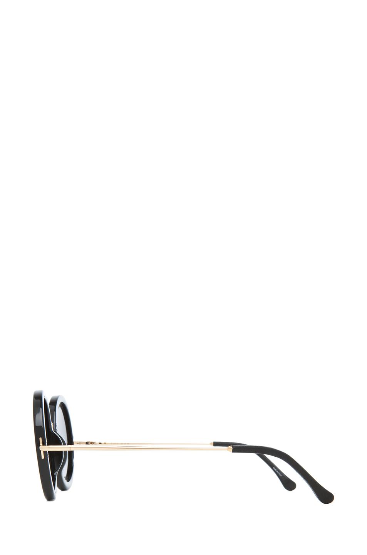 The Row|Signature Round Sunglasses in Black
