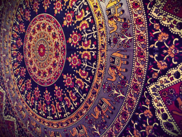 scarf wall tapestry pattern tapestry mandala elephant