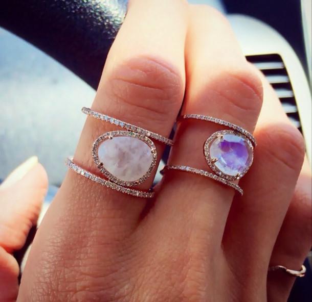 Super jewels, ring, ring, pretty, fashion, purple, white, beautiful  WL82