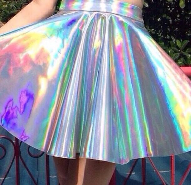 skirt holographic