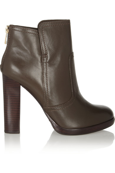 Tory Burch|Leather ankle boots|NET-A-PORTER.COM