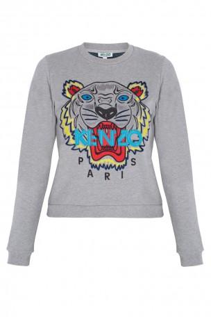 KENZO - Grey Tiger Face Sweater   Boutique1.com