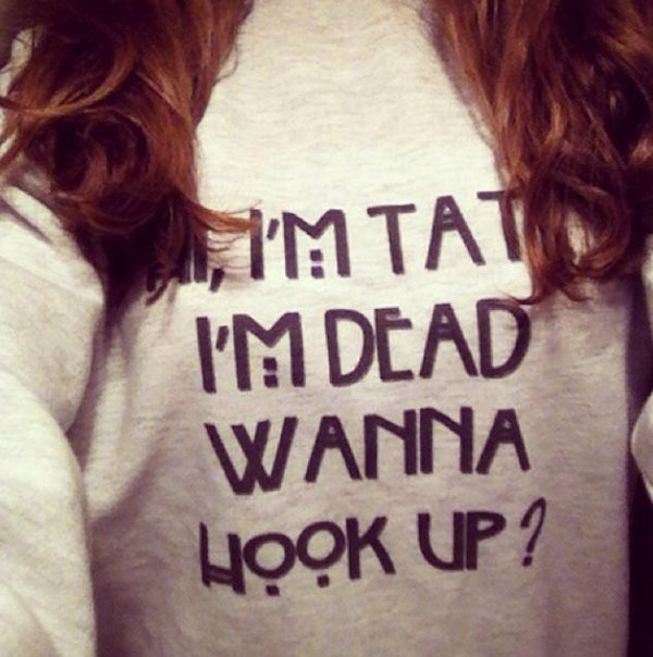 sweater american horror story tate langton quote on it skreened