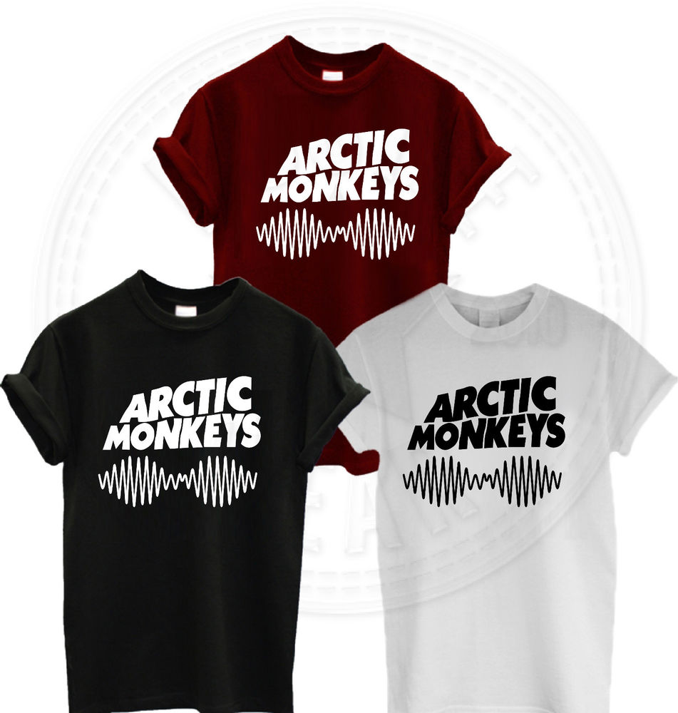 ARCTIC MONKEYS TSHIRT AM SOUNDWAVE T SHIRT TOP NEW ALBUM MUSIC CONCERT TOUR 2014 | eBay