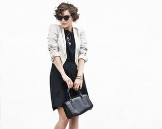bag glamourai leather black bag