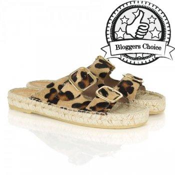 Daniel Tosda Leopard print Womens Flat Sandal