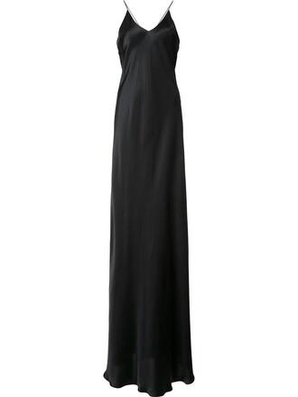 dress slip dress women black silk