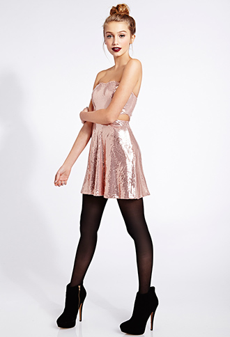 Dazzling Doll Fit & Flare Dress | FOREVER21 - 2000065716