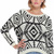 ROMWE | Asymmetric Tribal Style Cream Jumper, The Latest Street Fashion