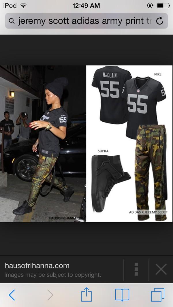 pants army print rihanna shoes