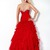 Cheap Red A-Line Sweetheart and Strapless Ankle Length Celebrity Dresses With Sequined and Ruffles   online sale,fast shipping
