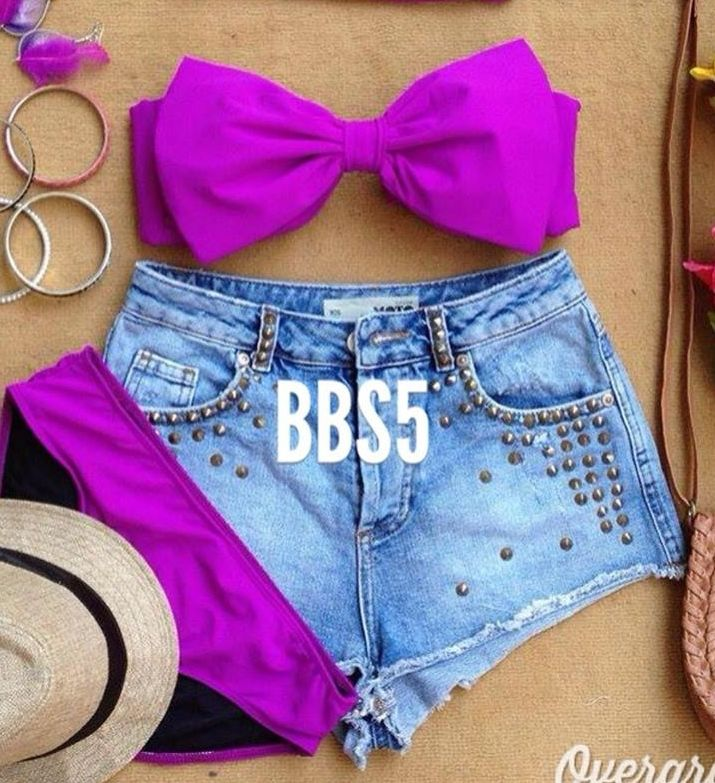 BOW 2 Piece Bikini – Purple | eBay