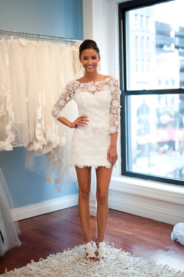 dress white dress lace lace dress prom prom dress pretty classy white wedding clothes white lace dress short dress short white lace short sleeves