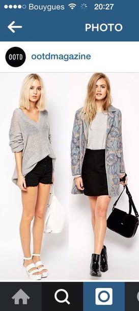 skirt black or white skirt