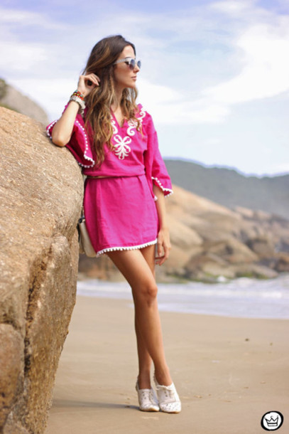 fashion coolture blogger pink dress